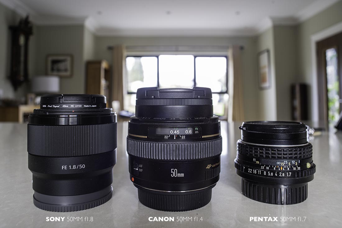 3 50mm lenses